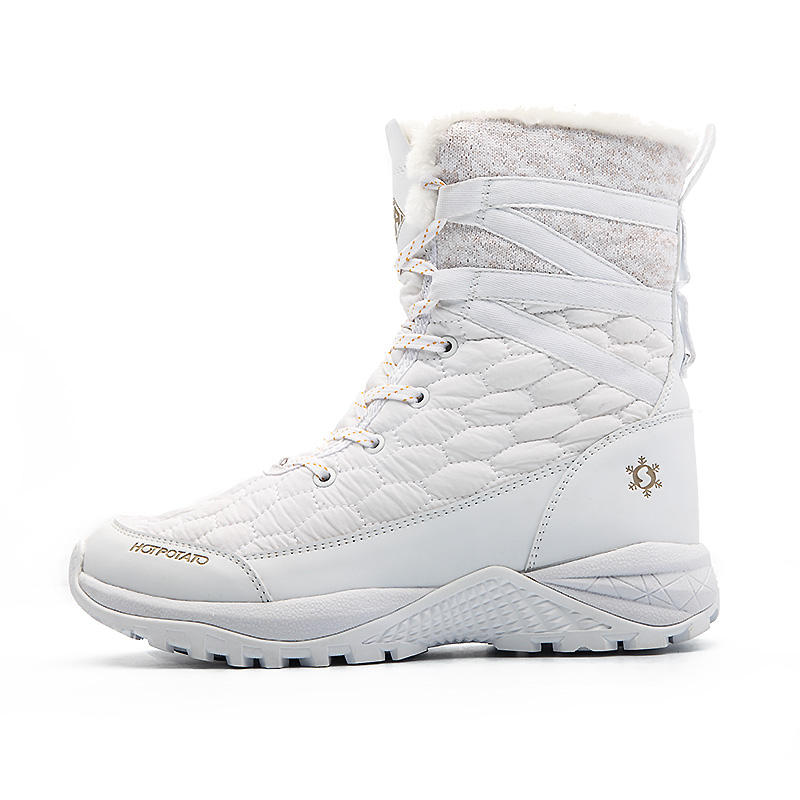 new arrival Arctic Grip groundbreaking sole warm winter boots white snow shoes in -30 degree