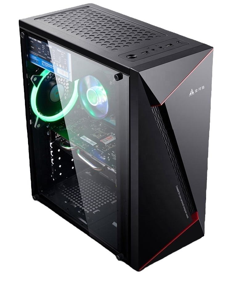 Factory hot selling OEM ODM Quiet Core i9 16GB Ram SSD HDD GTX 1660 6GB GPU VGA 24 inch gamer computer gaming PC desktop