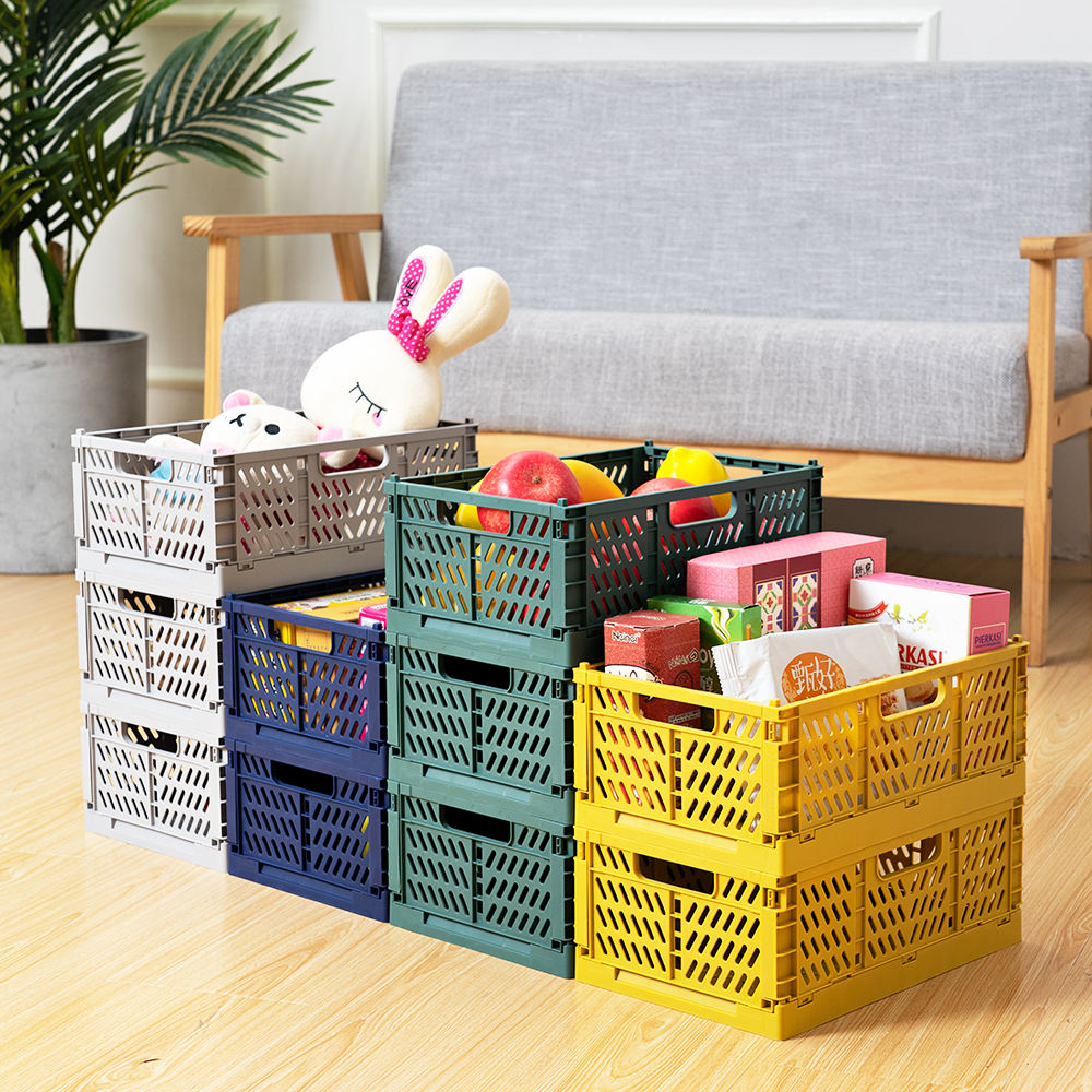 New design pp plastic collapsible foldable folding storage crate box