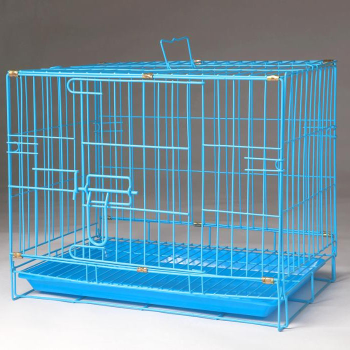 Hot Sale Strong Folding Metal Wire Home Floor Dog Cage With Handle And Lock