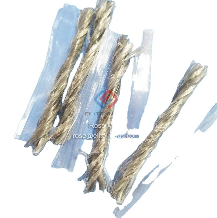 Concrete Reinforcement Ground Enhancing hybrid PP Macro Fiber for Bridge