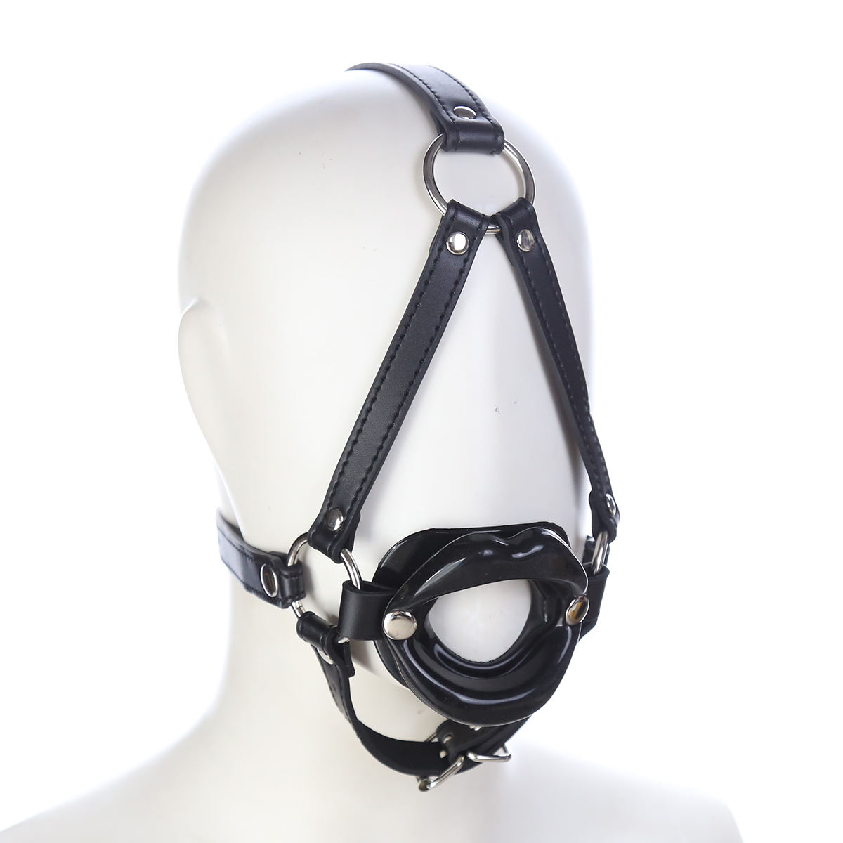 Aimitoy SM Game Bondage Sex Toy Bdsm Mouth Opener Head Mouth Ball Gag Retractor Head Harness