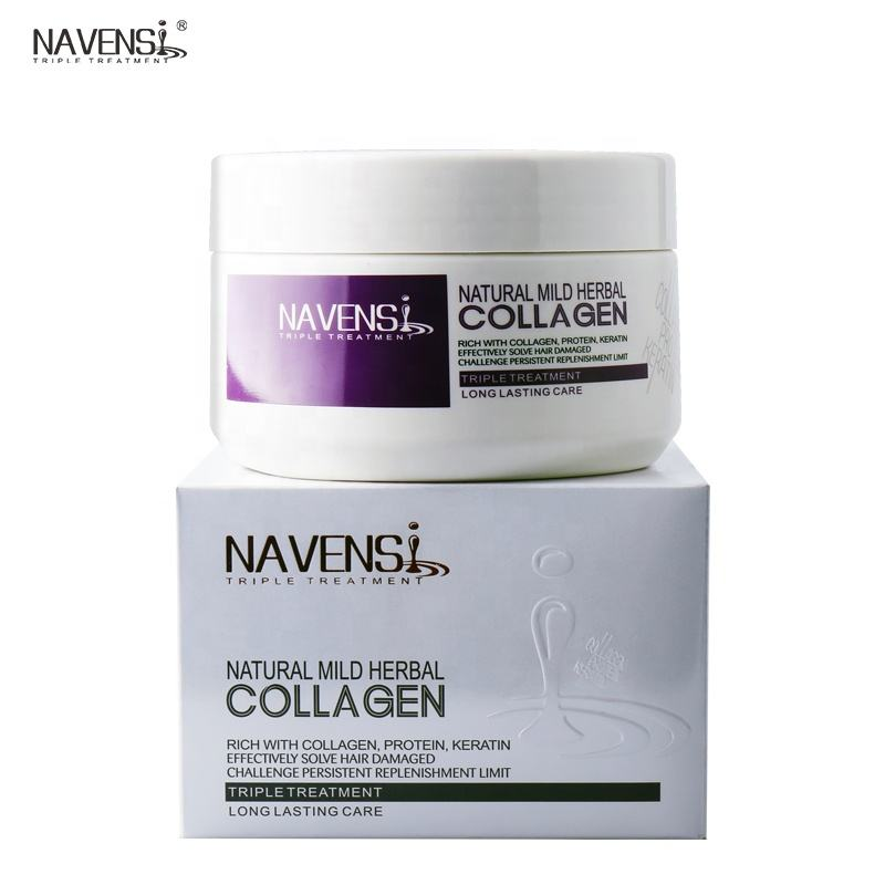 Private Label Natural Mild Herbal Collagen Protein Keratin Triple Treatment for Long Lasting Damaged Hair Care