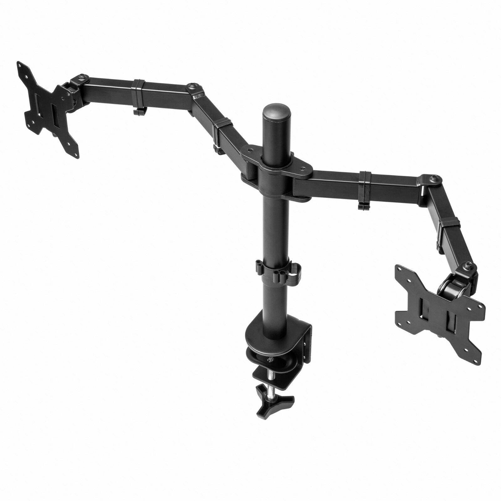 "Dual Desk Monitor Mount StandとClamp Double Monitor ArmためComputer 13 ""-27"" Screen"