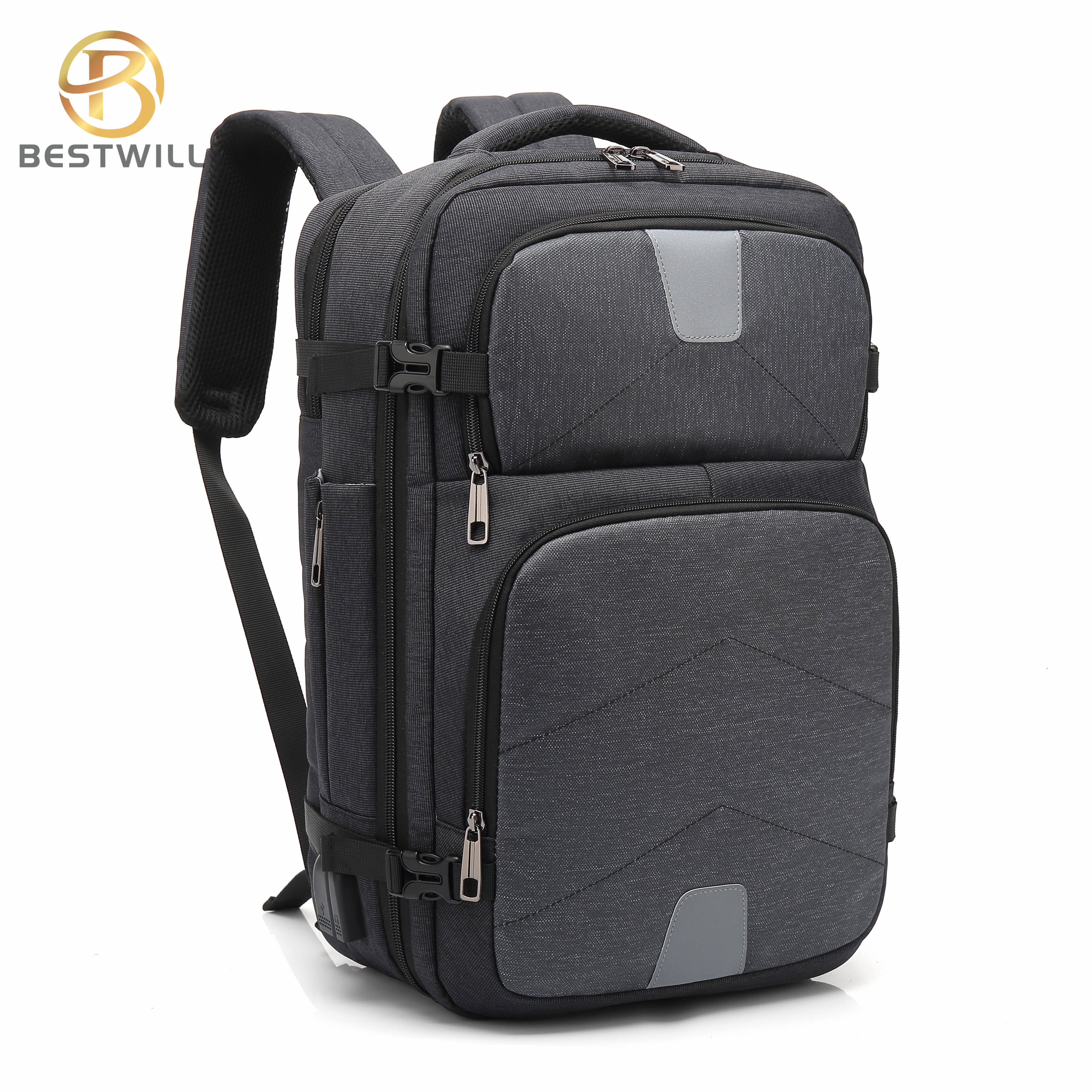 BESTWILL Business Backpack USB Charging Mens Laptop Backpack USB Port Custom Waterproof Anti theft USB School Backpack Laptop