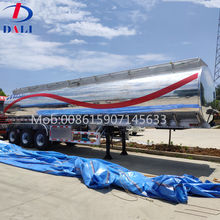 DLQ Stainless Steel fuel Oil tanker truck semi trailers 12 Tires 10000 Gallon