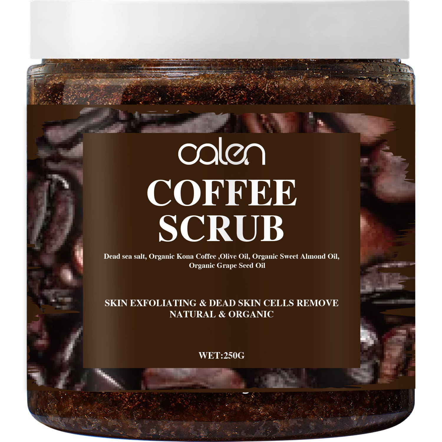 Private label Natural Organic Coffee Scrub Exfoliating Anti Cellulite Body Scrub
