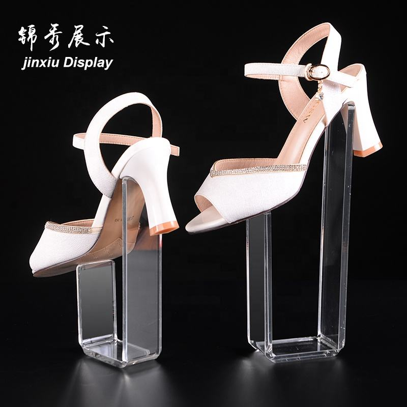 Modern design acrylic shoe rack display rack/high-heeled shoes bracket wholesale
