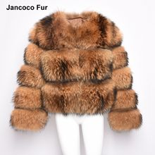 New Design Warm Thick Jacket For Winter Genuine Raccoon Fur Coat Women High Quality Fashion Outwear