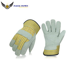 Free Sample Custom Size Semi Split Leather Working Gloves