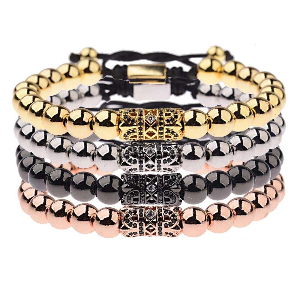 10 x Crystal Pave Alloy Skull Beads Rhinestones Drilled Side Holes Bracelets