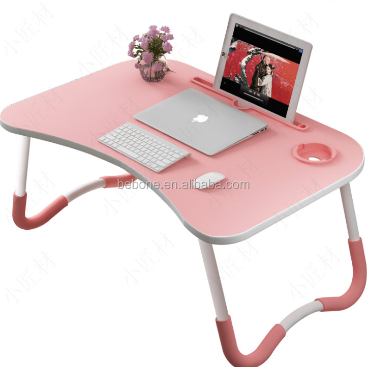 Laptop Bed Tray Table Foldable Lap Desk Stand Multifunction Lap Tablet Cup Holder Perfect for Eating Breakfast Reading