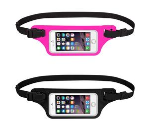 Kleurrijke Mode IPX6 Kwalificatie Smartphone Windows Touch Screen Waterdicht Fanny Pack