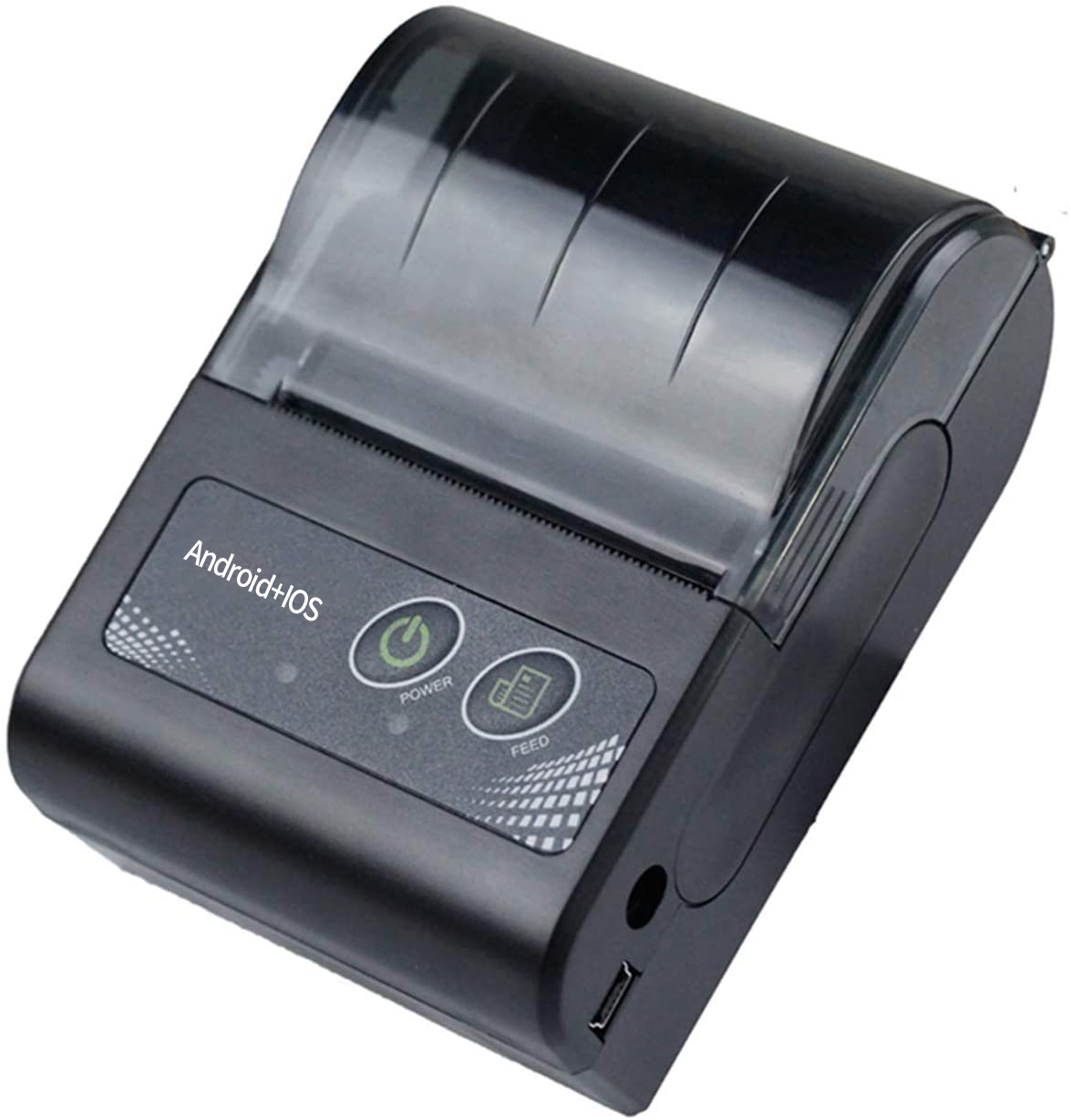 58mm Thermal Receipt Printer Portable Mini Wireless Thermal Printer USB Receipt Bill Ticket POS Printing for iOS Android Windows