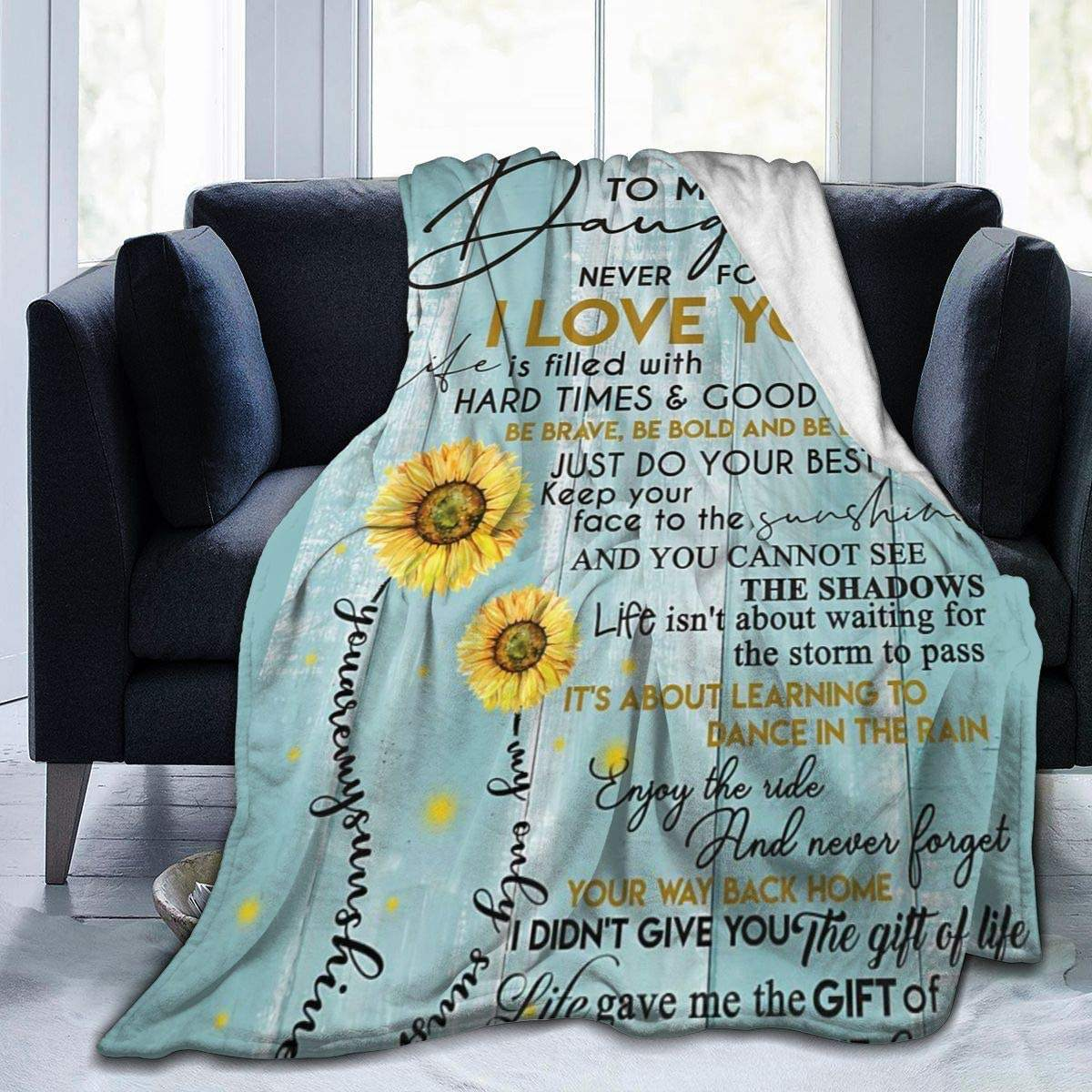 high quality write a baby h love letter flower print blanket creative to my daughter