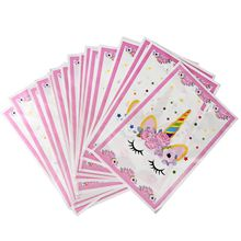 Unicorn Favors Event Party Supplies Decoration Gift Bags Printing Cany Goodie Party Loot Bag