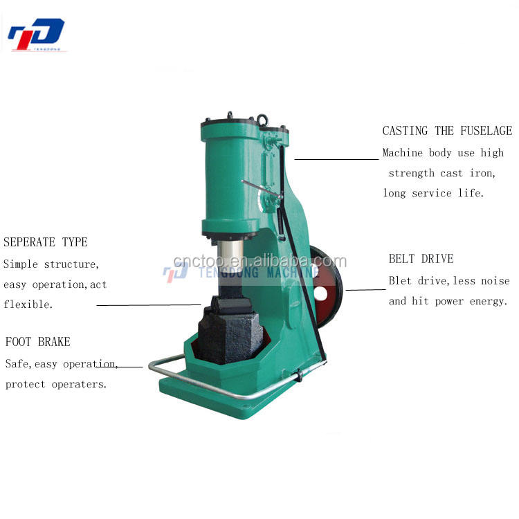 Penumatic Power Wrought iron pneumatic power forging hammer 55KG Air hammer machine