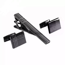 Custom design blank stainless steel engravable tie clips and cufflinks with gift box
