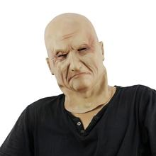 Old man realistic human mask for sale Full face latex halloween mask Novelty Costume Full Head Bald mask horror devil props