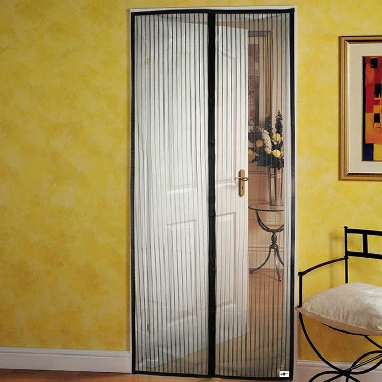 China factory fly mosquito magnetic curtain screen door 90