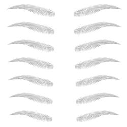 6D VIVID Eyebrow Tattoo Sticker For Lady