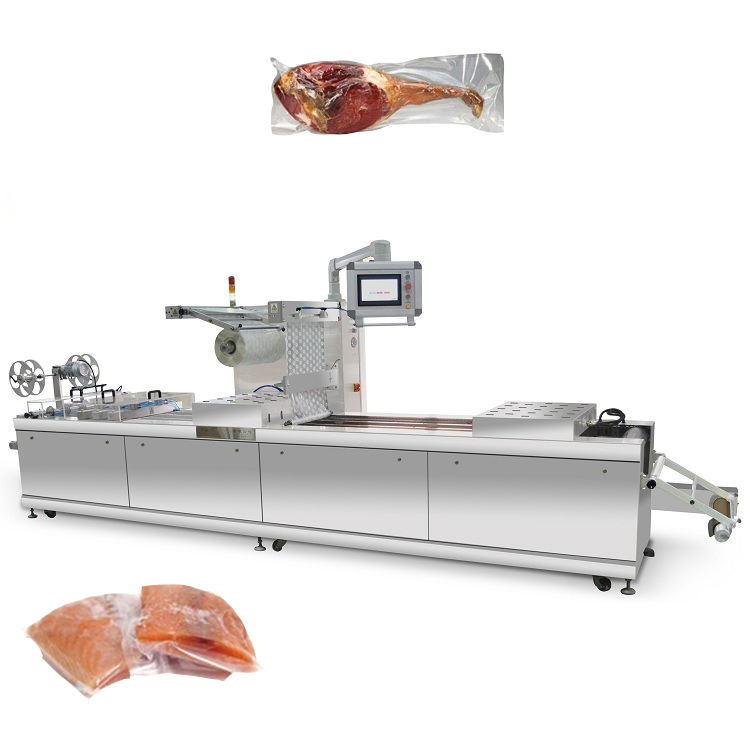 Automatische <span class=keywords><strong>Bacon</strong></span> Vacuüm Thermovormen Huid Verpakking Machine Voor Voedsel <span class=keywords><strong>Industrie</strong></span>
