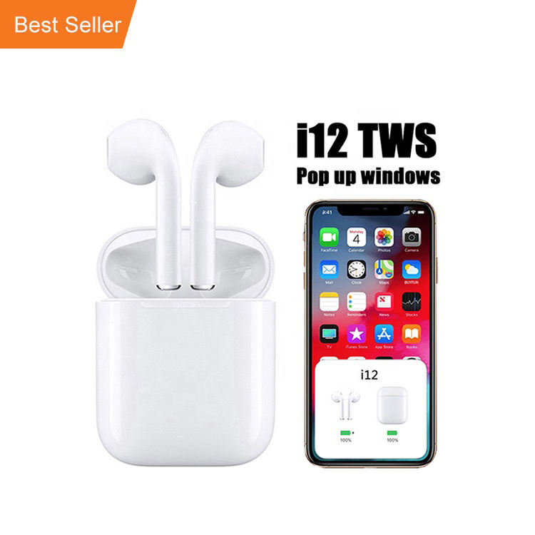 Inpod I12 Earbuds Audifonos Bluetooths 5.0 Wireless Earbuds Bluetooths Headphones Mini Sport I12 Tws I12