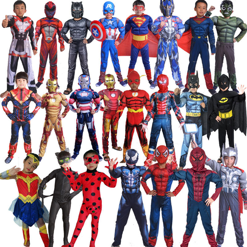 Halloween Christmas Boys Party Suit Cosplay Marvel Super Hero Costumes