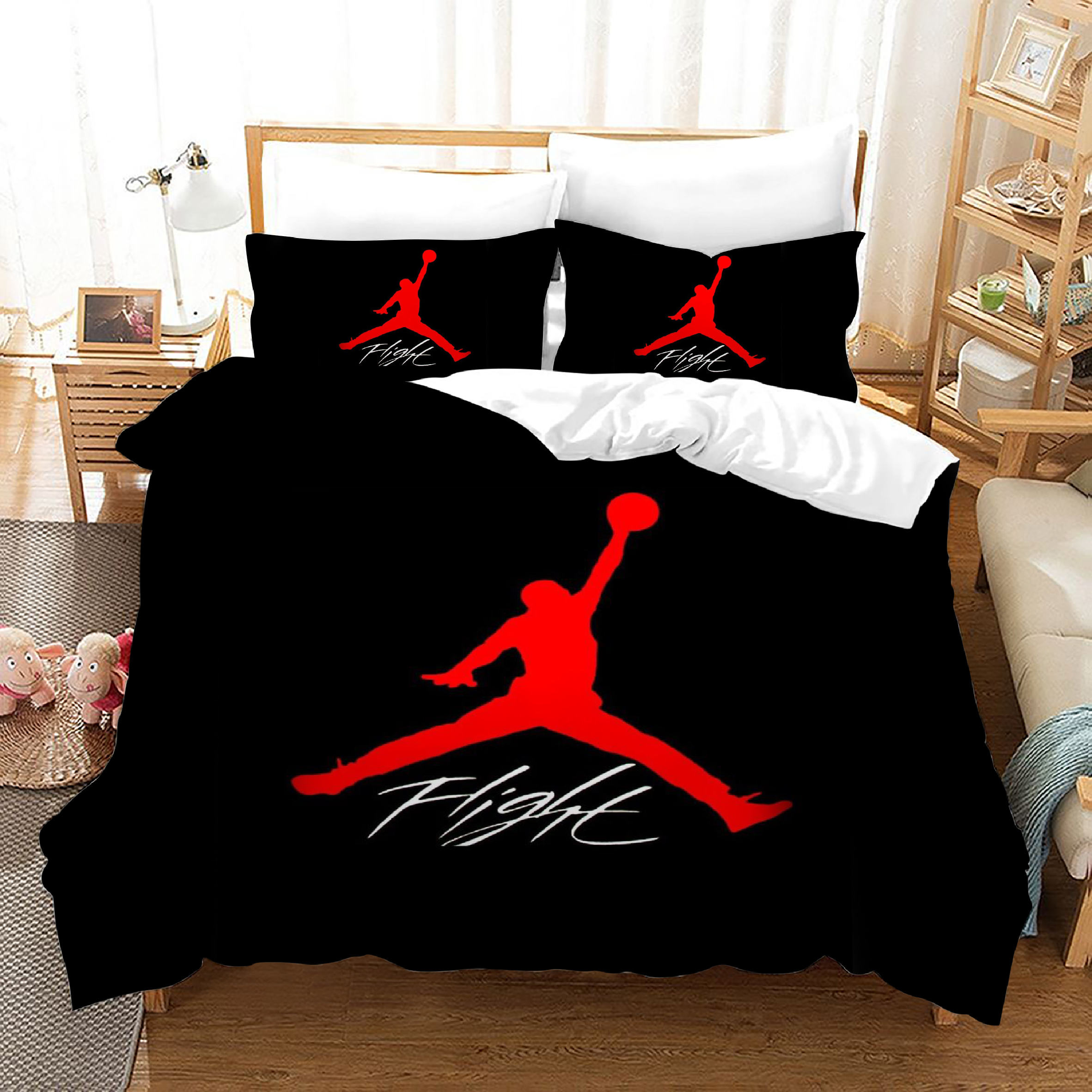 Best selling sheets bed set bedding NBA 1 queen size duvet cover chinese factory bed sheet set king size