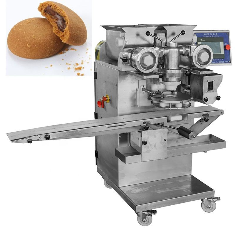 SV-208 making chocolate filled soft biscuit cookie encrusting machine