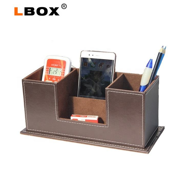 2019 New Style Modern Classic Office Imitation Leather Desk Organizer