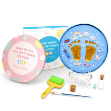 Baby footprint DIY  Air Drying Soft Clay Baby hand foot Imprint Kit Casting ultra light Casting newborn Gift