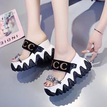 Women's sandals Platform 2020 New Rhinestone Peep toe Summer sandals for women Sexy Ladies Slides Wedges Female shoe