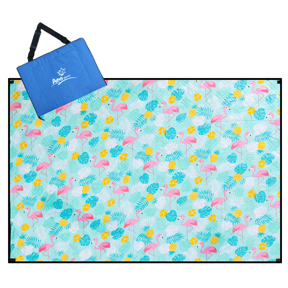 Cartoon Soft Washable Custom Camping Mat For Children Beach Mat With Printed Logo