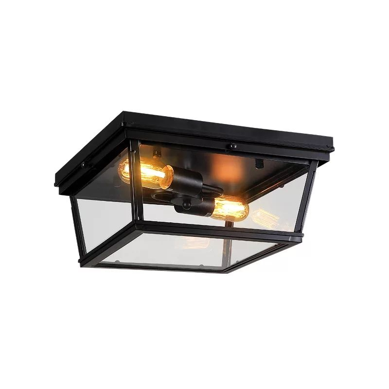 European classic vintage industrial moroccan lamp E27 Edison bulb glass box ceiling light
