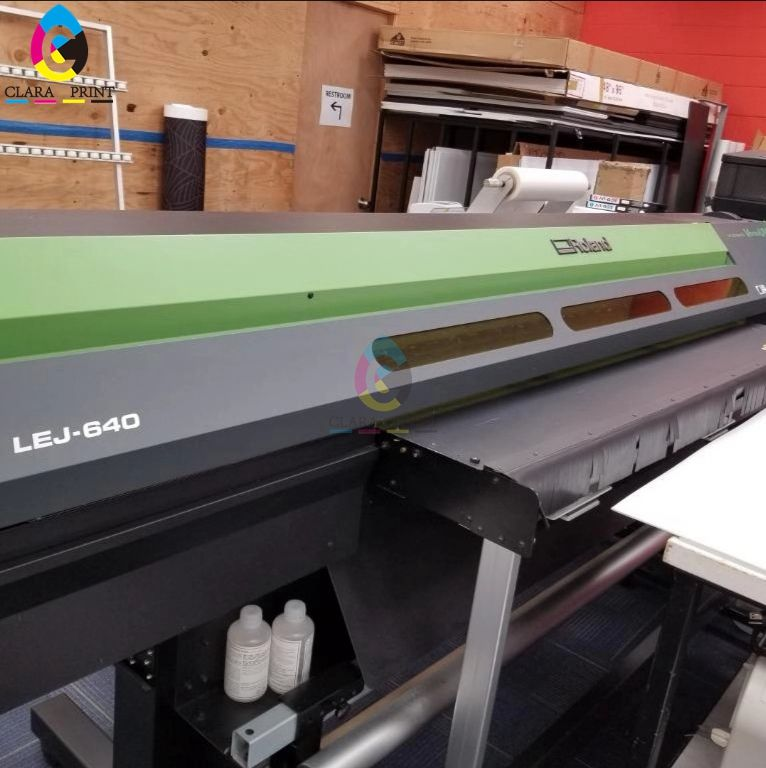 Almose new Second Hand original Roland LEJ-640 Hybrid UV-LED Flatbed Printer with heads /UV flatbed & Roll to Roll