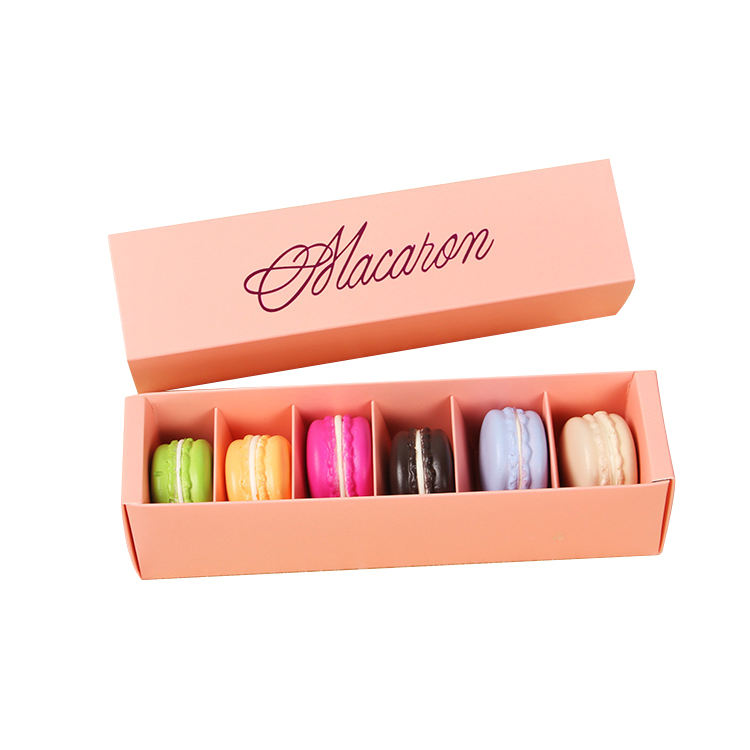 custom macaroon 6 packs of gift drawer cakes and pastries packaging box