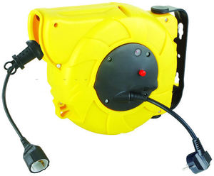 Auto-rewind retractable power cable reel with CE GS SAA