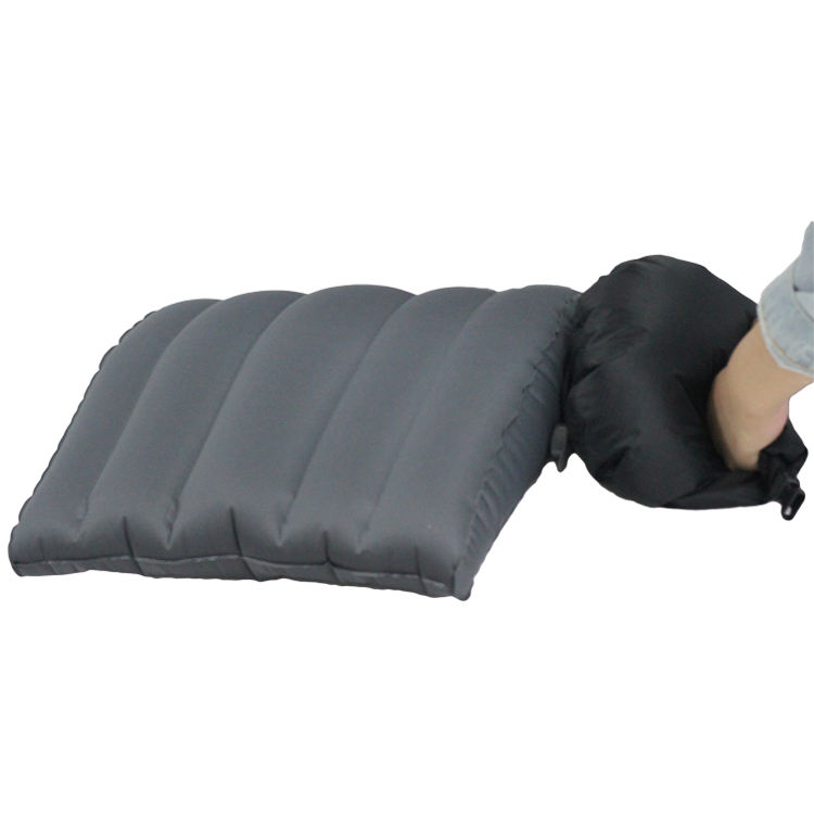 Travelsky lumbar pillow air chair car seat back support cusions with inflatable bag