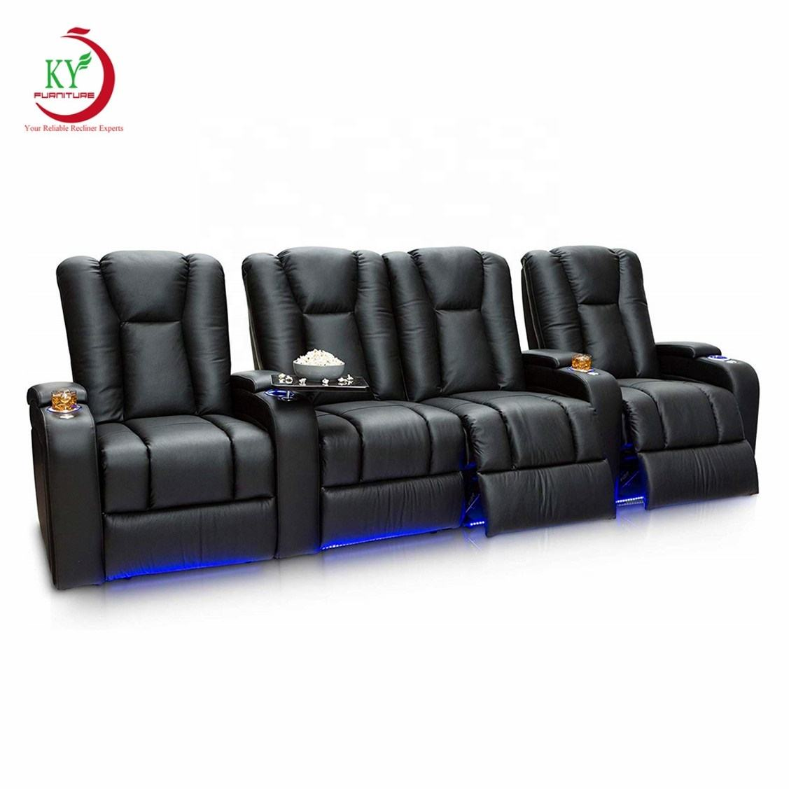 JKY Furniture Living Room Cinema Home Theater Recliner Seats New Style Sofa Set