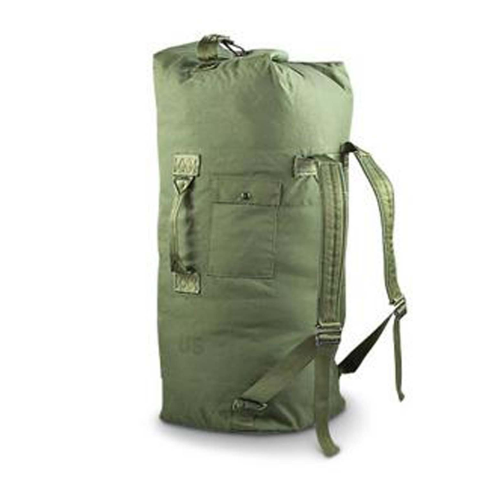 Military Outdoor Clothing Previously Issued Government Olive Drab Cordura 2 Strap Duffle Bag Dufle backpack