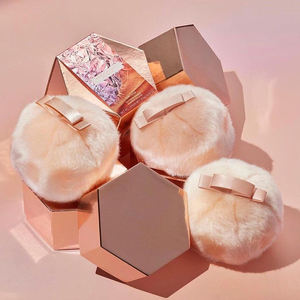 Makeup Fairy Bomb Glittering POM POM Shimmering Flash Body face Contour cosmetic Illuminator Plush Bronze Highlighter Ball Puff