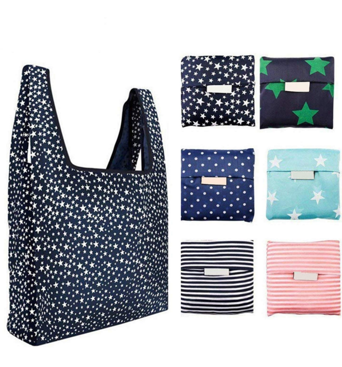 2020 Wholesale Fashion Foldable Reusable Ripstop Nylon Polyester Shopping Bag with pouch