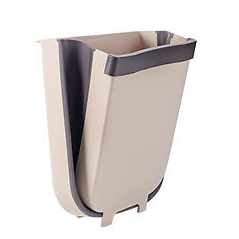 Eco-Friendly Custom Storage Boxes Dust Bins, Plastic Household Hanging Trash Can Foldable Garbage Rubbish Bin