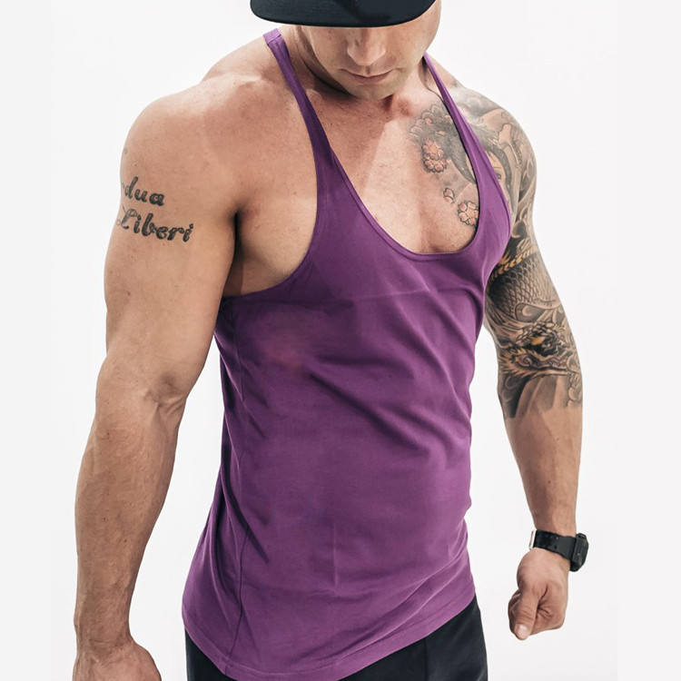 Custom Sports Singlet fitness clothing Slim Fit String Gym Vest For Men