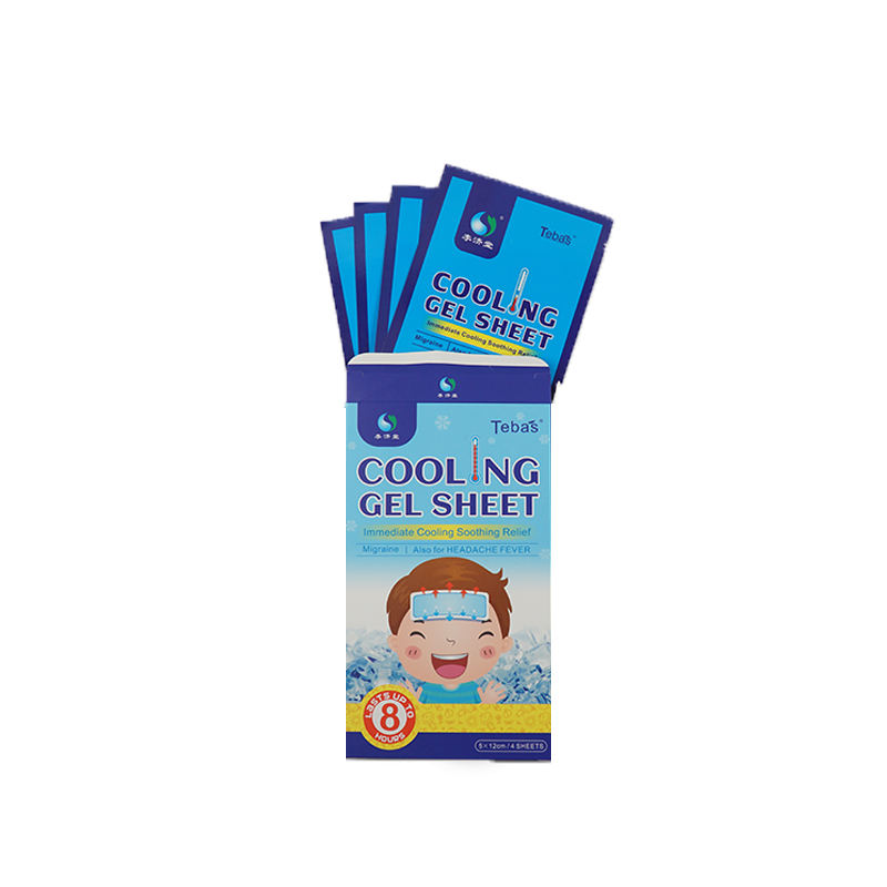 High-quality Cool Patch Fever Cooling Gel Patches for Baby and Adults Infant Fever Patch