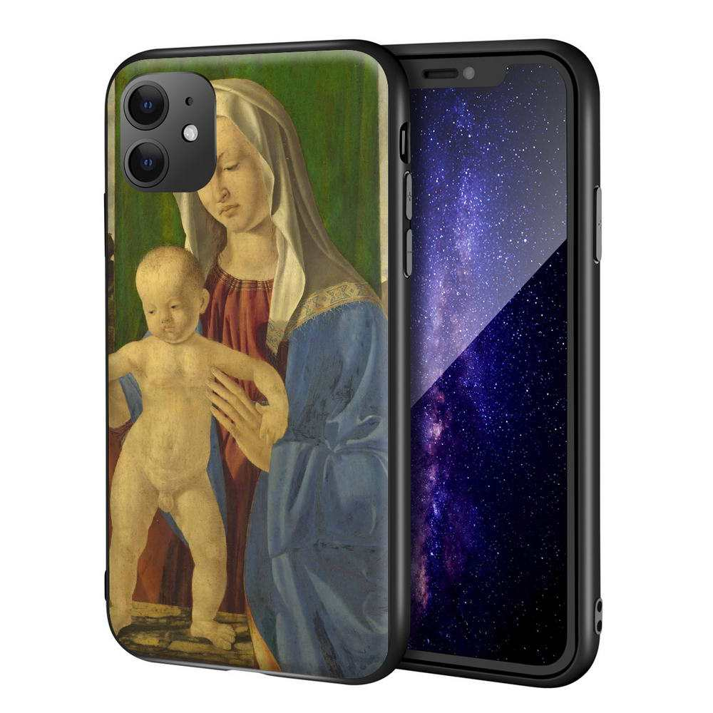 Marco Basaiti Designed for iphone 11 Pro/7/8/Max Art Cellphone/Mobile Phone Case(The Virgin And Child)