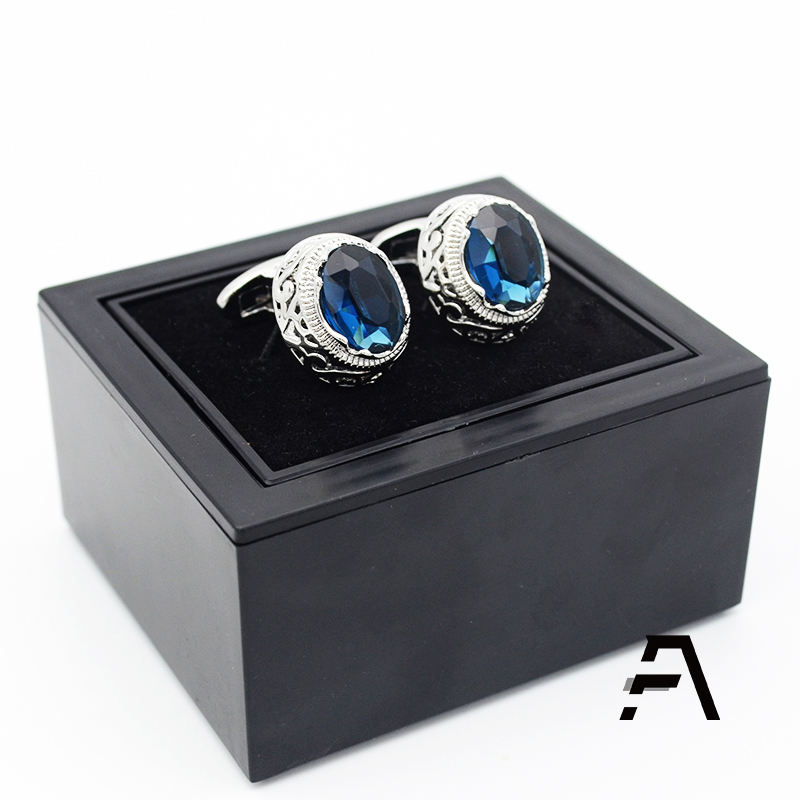 Wholesale bulk black cufflink gift packing stock box with custom logo