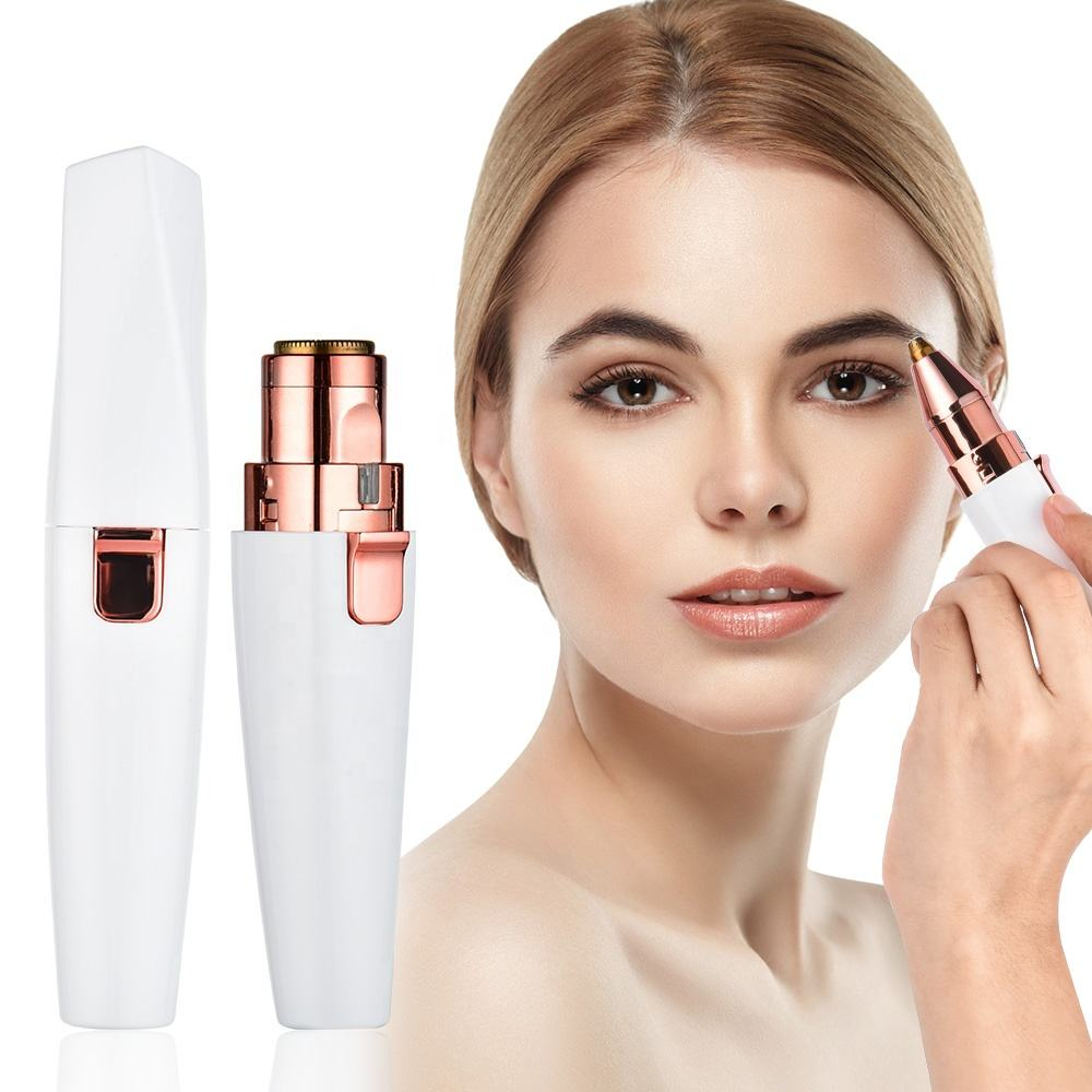 2020 Dropshipping Usb Oplaadbare Draadloze Rose Gold Facial <span class=keywords><strong>Vrouwen</strong></span> Wenkbrauwen Remover <span class=keywords><strong>Trimmer</strong></span>
