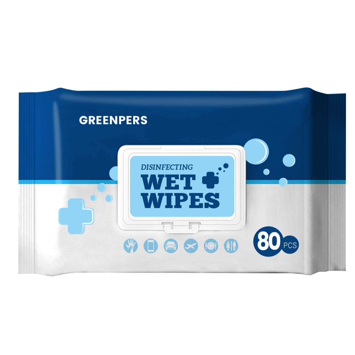 75% alcohol wipes 80 packs clean sterilization wet wipes home office disposable disinfection wipes
